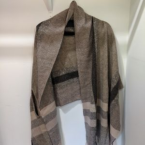 Madewell Brown Plaid Scarf